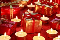 Decoration, present, presents, candle, candles, light, close_up, parcel, packet, Star, Stars, mood, studio, tealights, Christmas decoration, Christmas...