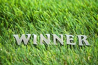 The ´WINNER´ on the grass