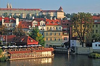 View of the Hradcany, Prague, Bohemia, Czech Republic, Europe, PublicGround