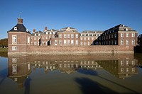 Schloss Nordkirchen moated castle, Versailles of Westphalia, Nordkirchen, district of Coesfeld, Muensterland, North Rhine_Westphalia, Germany, Europe