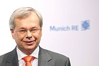 Torsten Jeworrek, board member of the Munich Re insurance company, during the press conference on financial statements on 13.3.2012 in Munich, Bavaria...