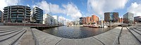 Panoramic view, part of the HafenCity district near Magellan Terraces, Hamburg, Germany, Europe