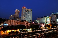 Vietnam, Ho Chi Minh Ville, district 1, the Caravelle hotel and the Sheraton hotel