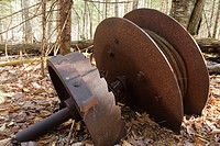East Branch & Lincoln Railroad - Artifacts near the end of the Camp 9 spur line in the Pemigewasset Wilderness of the White Mountains, New Hampshire U...