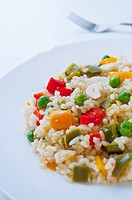 Rice with vegetables  Close view