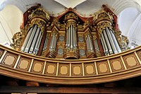 Erasmus Bielfeldt Organ, built in 1736, Church of St. Wilhadi, built during the first half of the 14th Century, Hanseatic town of Stade, Lower Saxony,...
