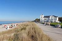 Beach, Heiligendamm, Baltic Sea, Mecklenburg-Western Pomerania, Germany, Europe
