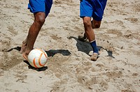 Ciudad de Panamá Panama: playing soccer on the beach by the Casco Viejo