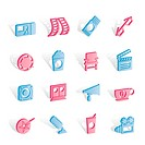 Cinema and Movie _ vector icon set