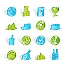 Restaurant, food and drink icons _ vector icon set