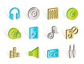 Music and sound icons _ Vector Icon Set