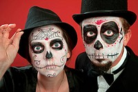 Couples on Day of the Dead Makeup