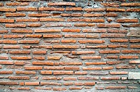 Brickwork, made about two thousand years ago in Pompeii, Italy