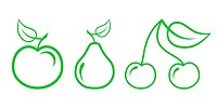 Green Nature Icons. Part 2 _ Fruit