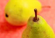 Close up of pear with very low depth of field