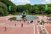 Fountain in Central Park, New York City, NY