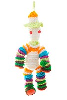 Wool doll on white background