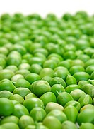 Fresh green peas seed vegetable closeup view