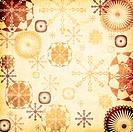 Snowflakes background, grunge style illustration