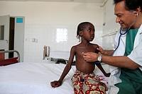 Medical consultation with Dr Gerard Babatasi at Fann hospital Dakar, Senegal.