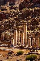The Colonnaded Street at Petra archaeological site a UNESCO World Heritage site, Jordan