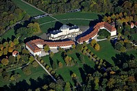 Aerial view, Schloss Solitude Castle, Stuttgart, Baden-Wuerttemberg, Germany, Europe