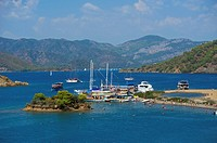 Calis Beach Island, Adlar, 12 island-hopping tour, Fethiye, Turkish Aegean Coast, Turkey