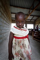 Young African Girl in School, Portrait
