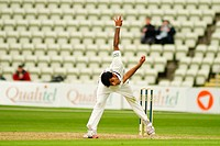 26 04 2012 Worcester, England Worcester v Nottinghamshire County Cricket Aneesh Kapil bowling for Worcester during the LV County Championship match pl...