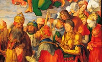 The Adoration of the Holy Trinity The Landauer Altarpiece, by Albrecht Drer, 1511, 16th Century, oil on poplar panel, cm 135 x 123,4. Austria, Wien, K...