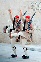 Guards parade at Syntagma square, Athens, Greece