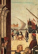 Legend of St Ursula. The Arrival of the English Ambassadors at the court of Brittany, by Vittore Carpaccio, 1495, 15th Century, oil on canvas, cm 275 ...