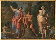 Hercules at a Crossroad, by Carracci Annibale, 16th Century, 1596 _1598, oil on canvas, cm 167 x 237. Italy, Campania, Naples, Capodimonte National Mu...
