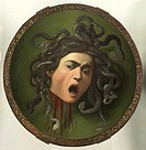 Medusa, by Michelangelo Merisi known as Caravaggio, 1596 _ 1598 about, 16th Century, oil on canvas on poplar shutter, 55,5 cm. Italy, Tuscany, Florenc...