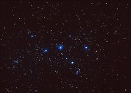 Cassiopeia. Optical image of the northern constellation Cassiopeia, the Queen. North is at top. The brightest stars in this constellation form a disti...