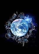 Space junk, computer artwork