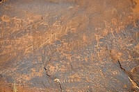 Approx. 3000 year old rock paintings by Native Americans, Sand Island, near Bluff, northern Utah, USA