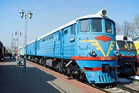 Russian diesel passenger locomotive TE7, built in 1963