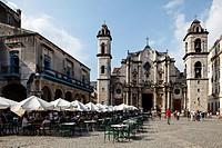 Cathedral of Havana, Catedral de la Virgen Maria de la Inmaculada Concepción, baroque facade, 1778 finished, Plaza de la Catedral, Empedrado, Villa Sa...