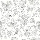 pattern with black and white flowers