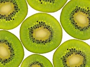 Kiwi fruit isolated against a white background