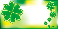Abstract background with clovers