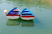 Traditional little fishing boat of Aveiro Portugal