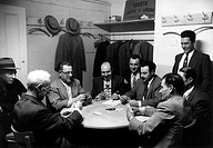An Italian_American group playing cards at the Society for Freedom and Work among the people of Mazara di Vallo Societ di Libert e Lavoro fra i cittad...