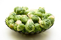 Brussels sprouts in the bowl