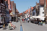 Main street, Forchheim, Franconian Switzerland, Upper Franconia, Franconia, Bavaria, Germany, Europe
