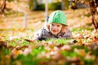 Baby in autumn