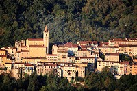 The village of Contes, Alpes-Maritimes, French riviera, Provence-Alpes-C&#244;te d'Azur, France