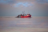 Fishing Vessel off Holkham Norfolk December evening