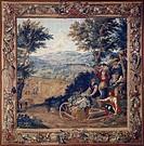 18th century Teniers tapestry based on cartoon by Werniers, around 1759, Lille manufacture.  Roma, Palazzo Del Quirinale Collezioni Della Presidenza D...